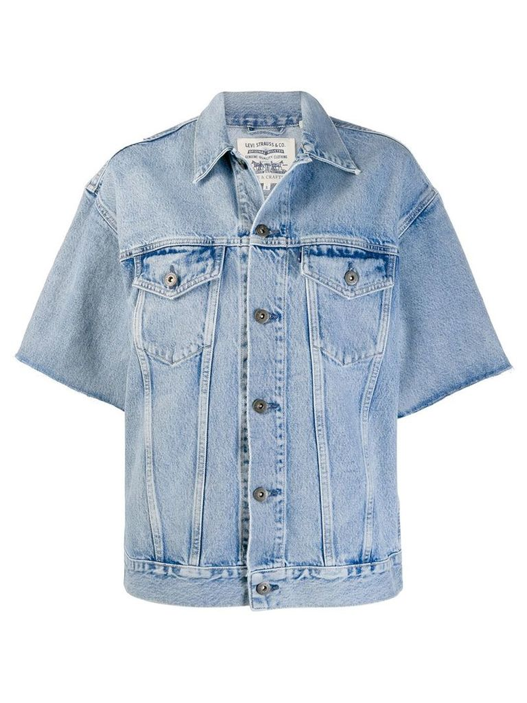 Levi's: Made & Crafted short sleeved jacket - Blue