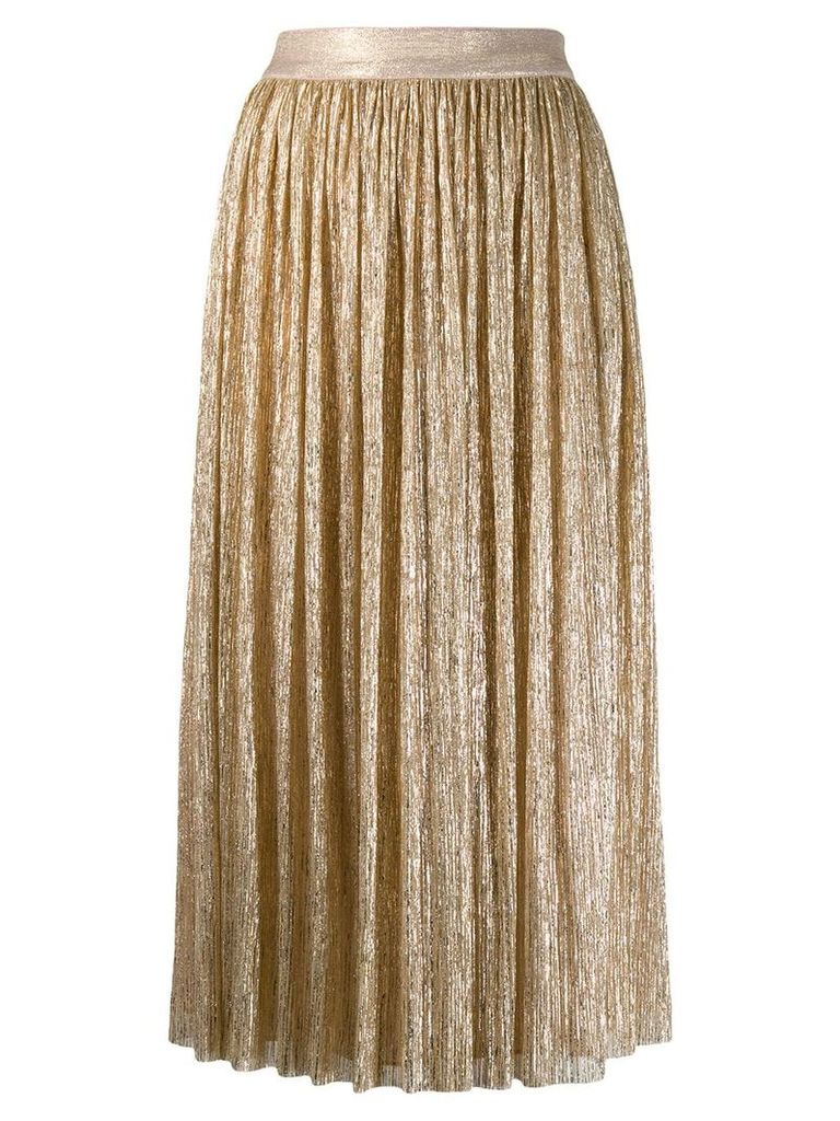 Alice+Olivia pleated skirt - Gold