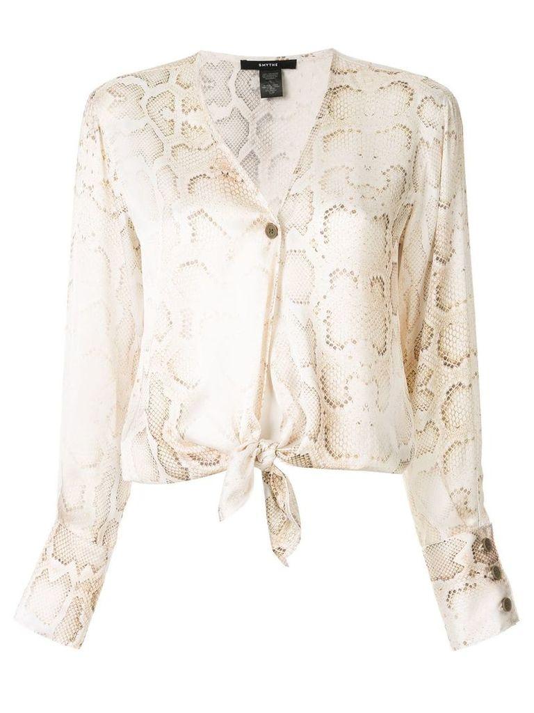Smythe collarless blouse - White