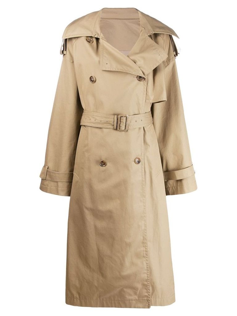 Juun.J belted trench coat - Neutrals
