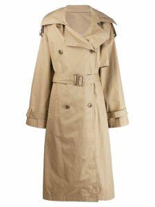 Juun.J belted trench coat - Neutrals