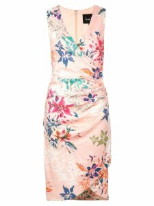 Nicole Miller floral print wrap style dress - Pink