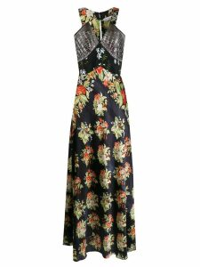 Paco Rabanne floral print maxi dress - Black