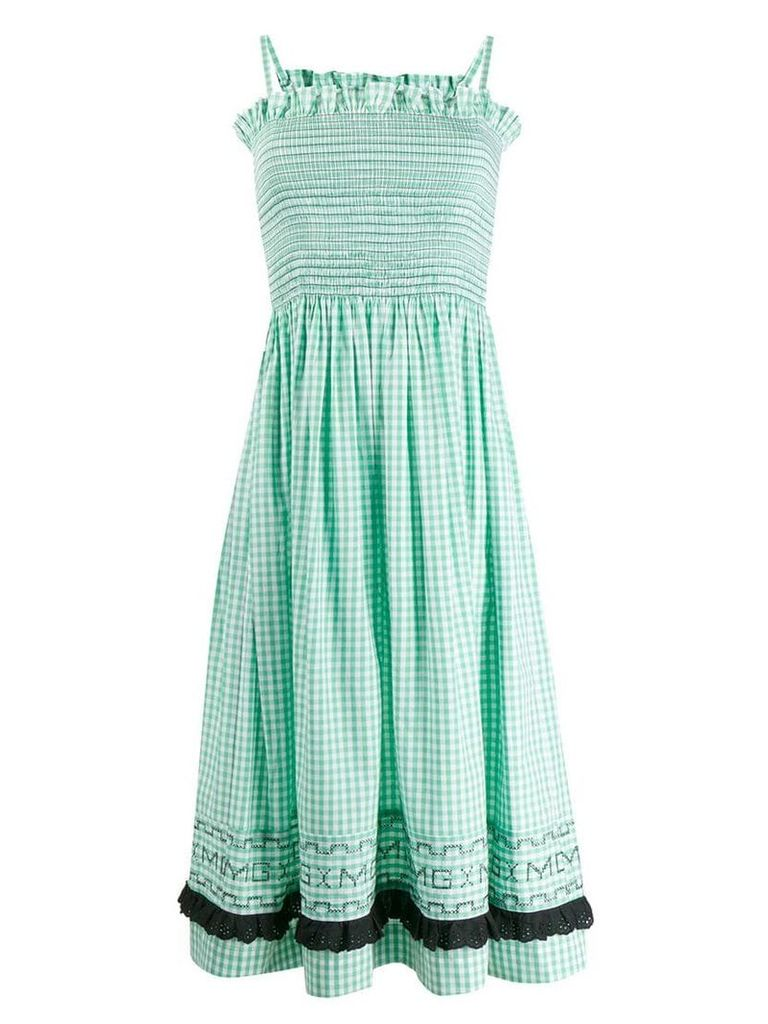 Molly Goddard gingham smock sundress - Green