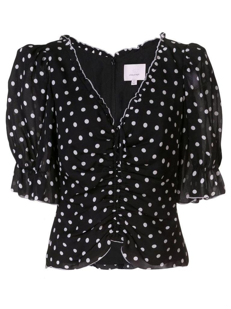 Cinq A Sept polka-dot blouse - Black