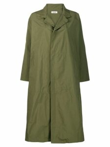 Plantation flared oversized coat - Green
