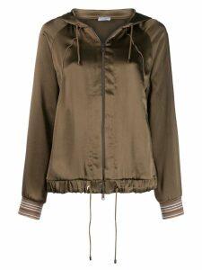 Brunello Cucinelli hooded bomber jacket - Green