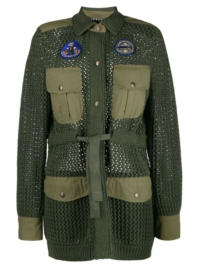 Mr & Mrs Italy knit military coat - Green