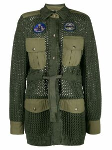 Mr & Mrs Italy knit military coat - Green