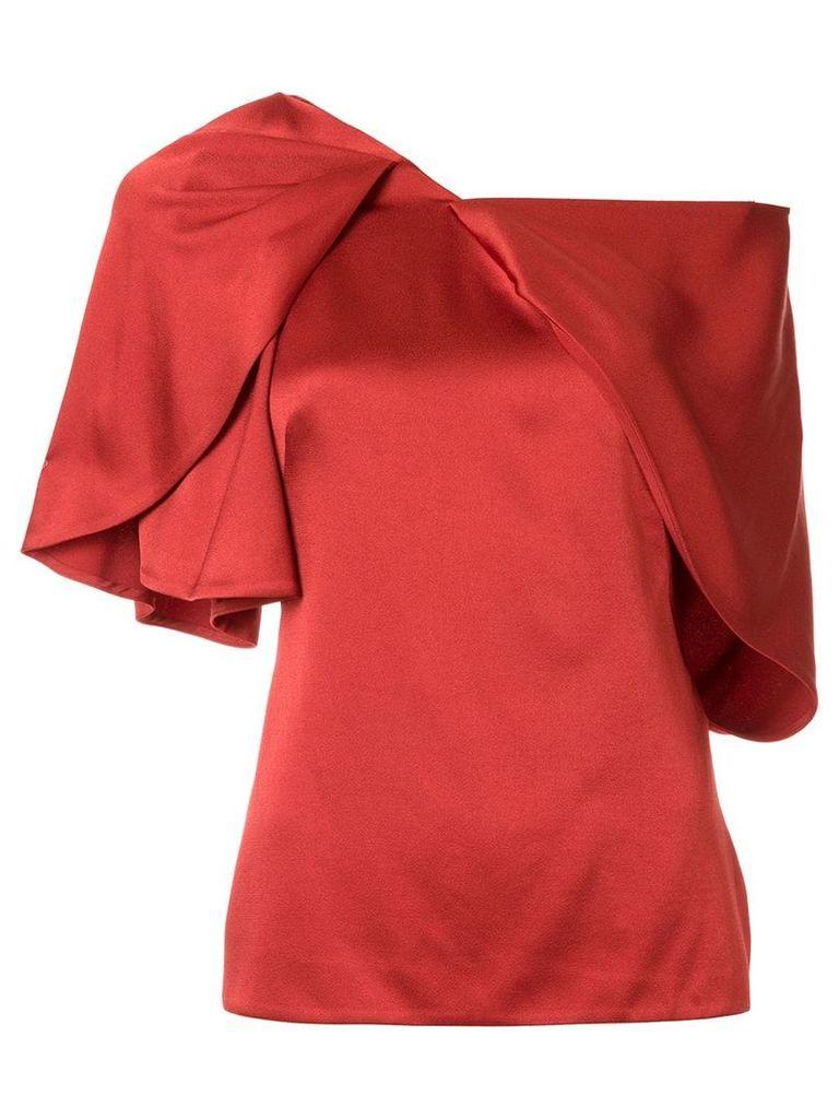 Peter Pilotto asymmetric draped shirt - Red
