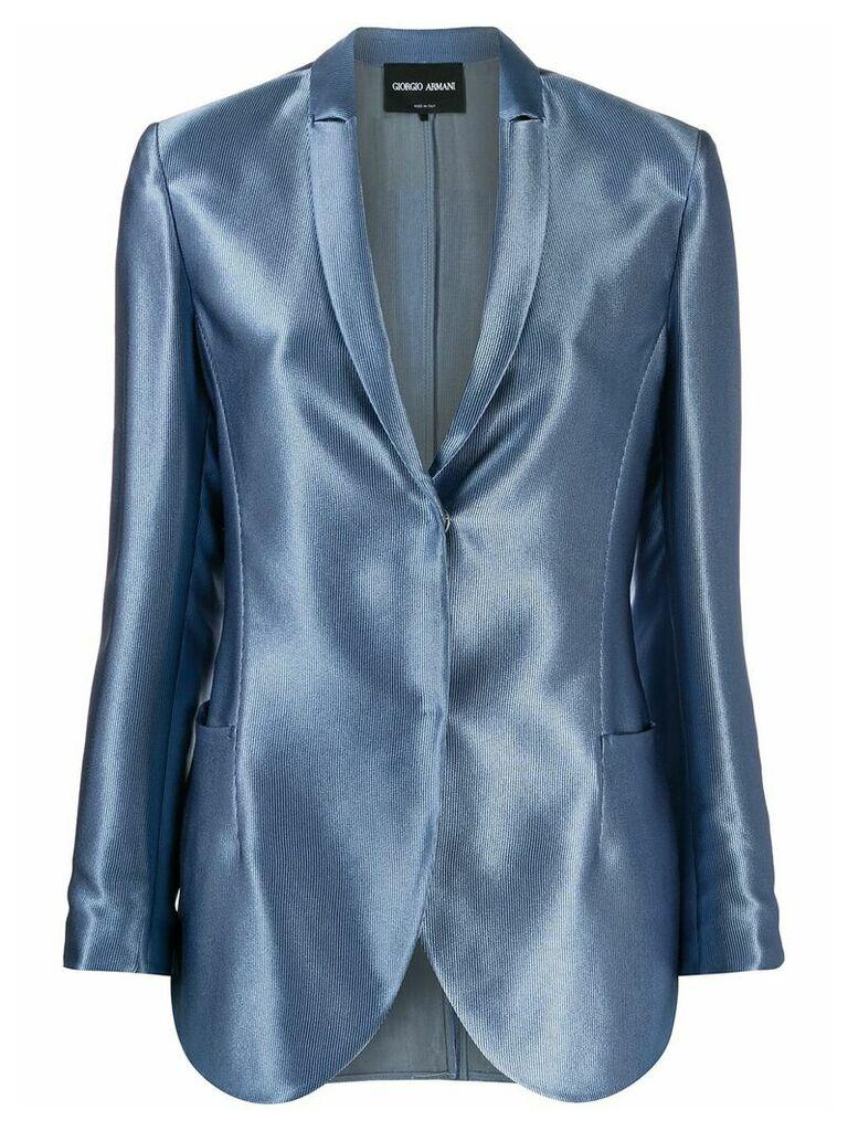 Giorgio Armani Single breasted blazer - Blue