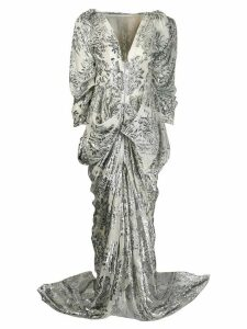 Maticevski floral pattern gown - Silver