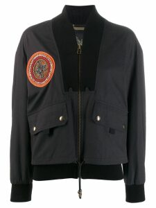Mr & Mrs Italy embroidered bomber jacket - Black