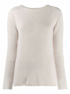 'S Max Mara long sleeve knitted top - Neutrals
