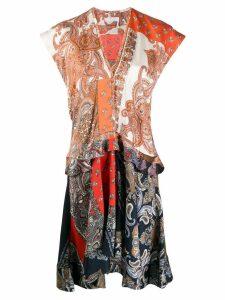 Chloé paisley print panelled dress - Neutrals