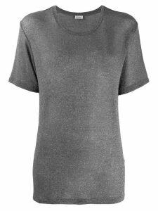 Saint Laurent short-sleeve fitted T-shirt - Grey