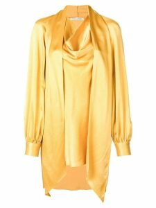 Oscar de la Renta cowl neck blouse - Yellow