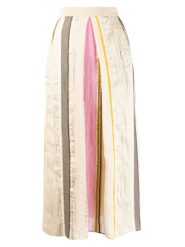 Lorena Antoniazzi striped midi skirt - Neutrals