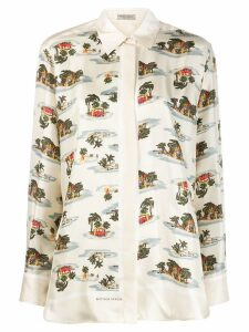 Bottega Veneta tropical print shirt - Neutrals