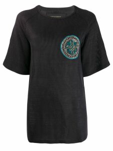 Mr & Mrs Italy embroidered T-shirt - Blue