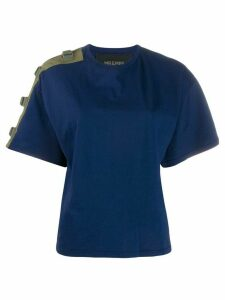 Mr & Mrs Italy buckle fastened T-shirt - Blue