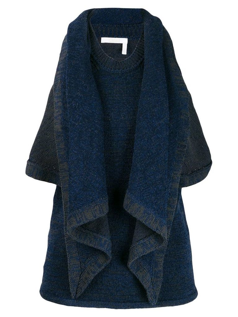 Chloé draped knitted top - Blue