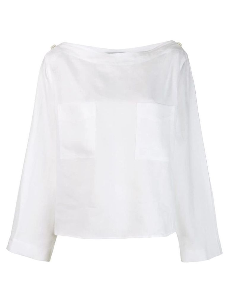 Max Mara boat neck top - White