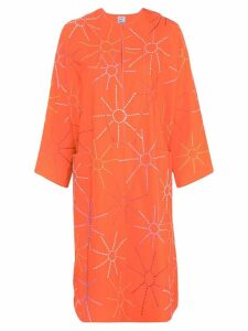Maison Rabih Kayrouz embroidered sun dress - Orange