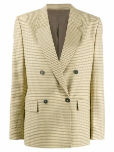 J.Lindeberg checked double-breasted blazer - Yellow