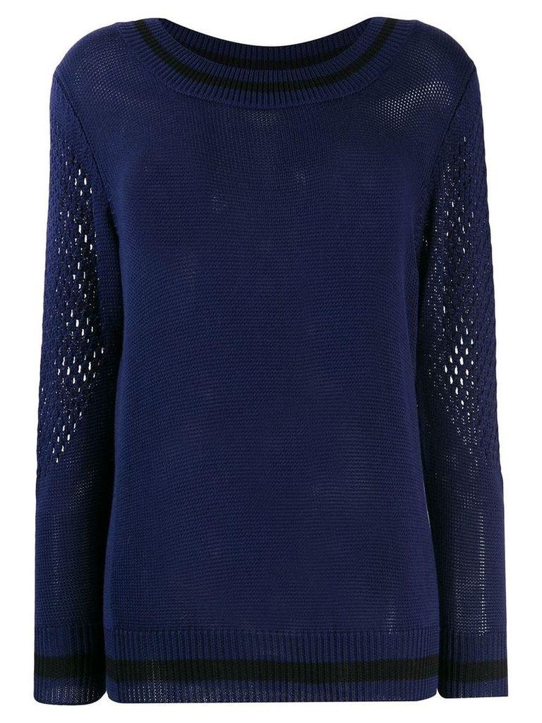 Mr & Mrs Italy mesh detail sweater - Blue