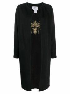 Quantum Courage Queening embroidered cardigan - Black