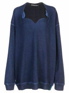 Y/Project sweetheart-neck sweatshirt - Blue