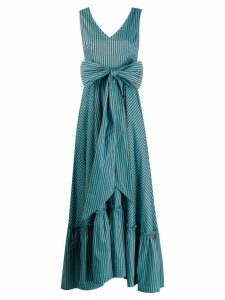P.A.R.O.S.H. striped bow dress - Blue