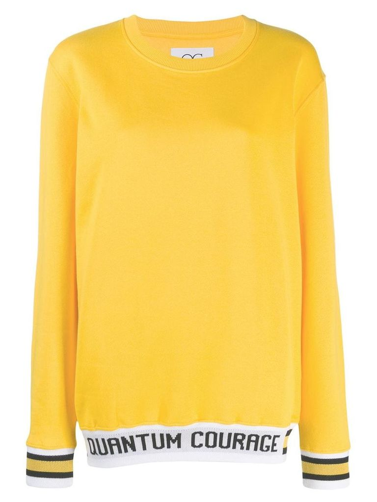 Quantum Courage logo print sweatshirt - Yellow