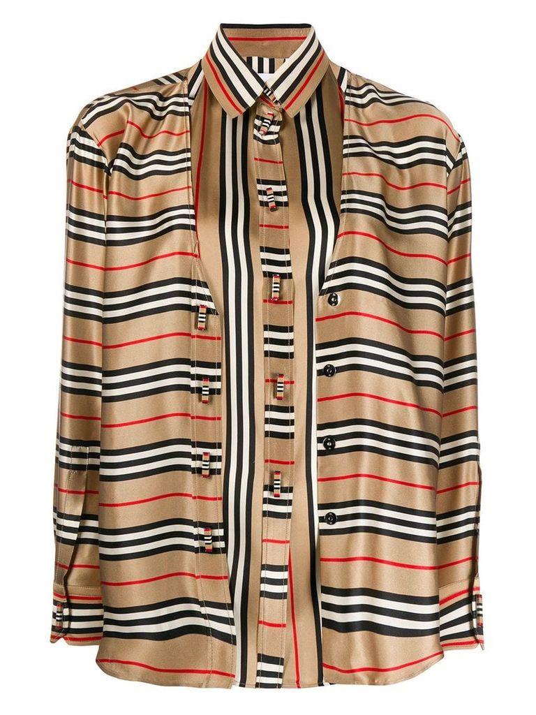 Burberry striped cardi-shirt - Blue