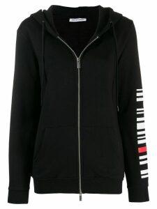 Quantum Courage back logo zipped hoodie - Black