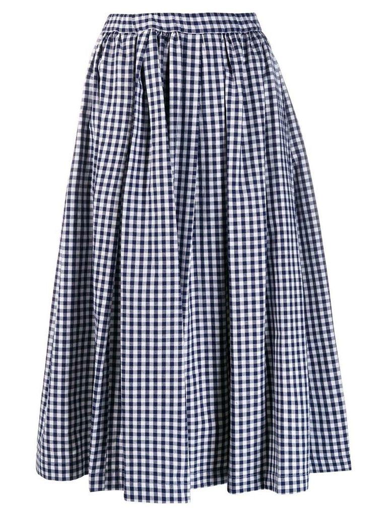 Comme Des Garçons Girl gingham full skirt - Blue