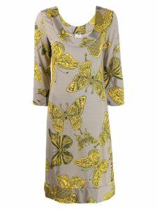 Ultràchic butterfly print dress - Grey