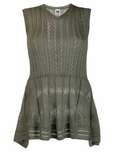 M Missoni peplum ribbed top - Green