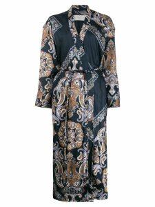 Chloé paisley print robe coat - Blue