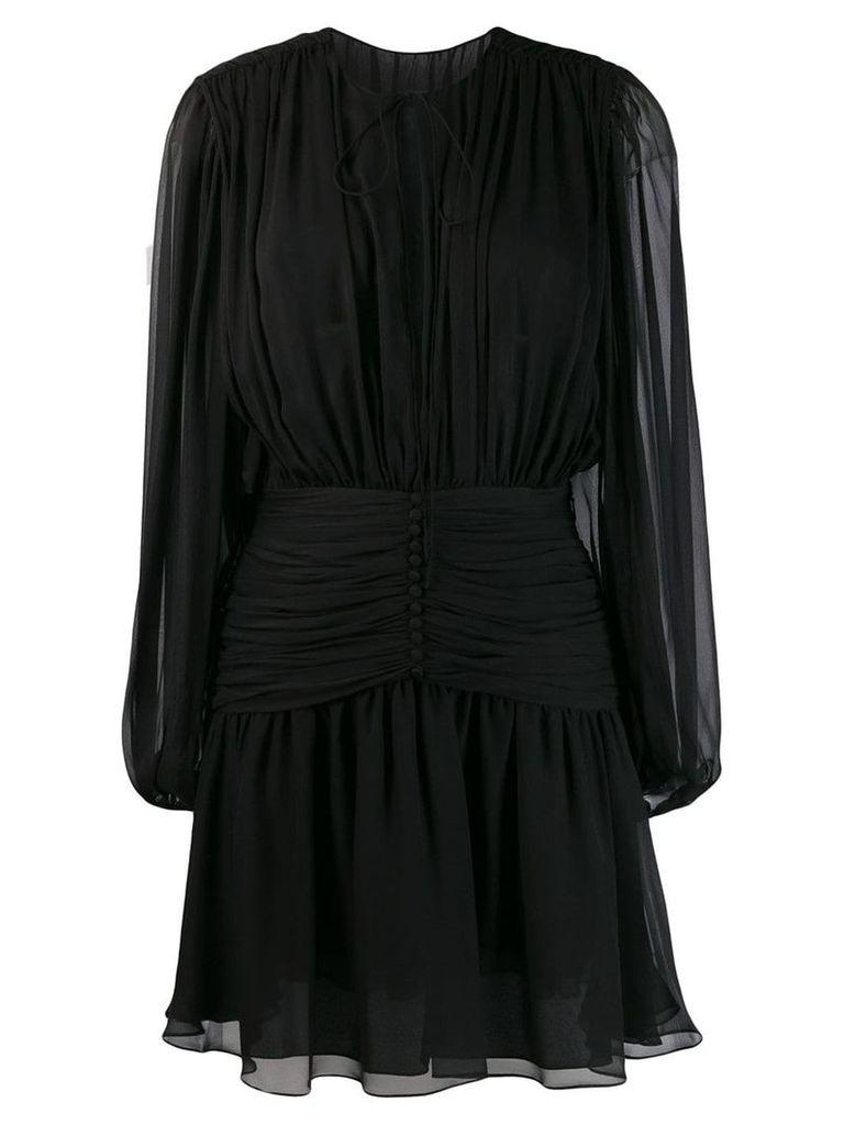 Saint Laurent long-sleeve mini dress - Black