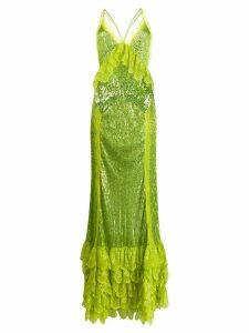 Amen sleeveless sequin gown - Green