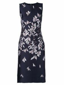 Oscar de la Renta straight-cut dress with petal print - Blue