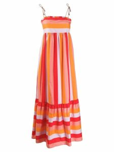 Twin-Set colour block maxi dress - Orange