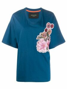 Mr & Mrs Italy oversized embroidered T-shirt - Blue