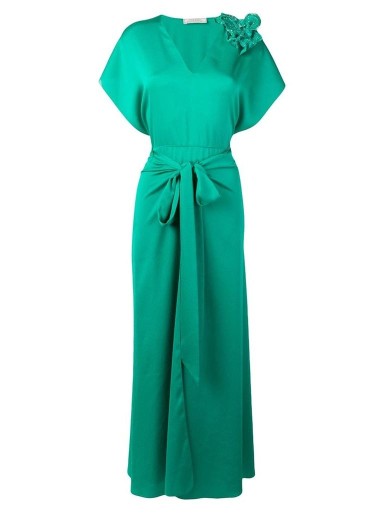 Nina Ricci flared appliqué dress - Green