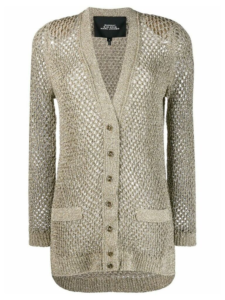 Marc Jacobs knitted cardigan coat - Gold