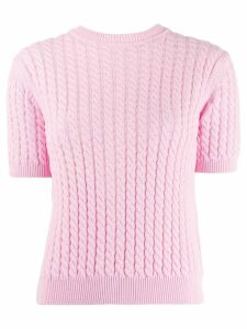 Alessandra Rich braided knit top - Pink
