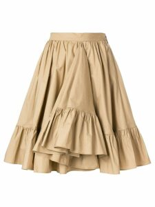 MSGM frill hem full skirt - Neutrals