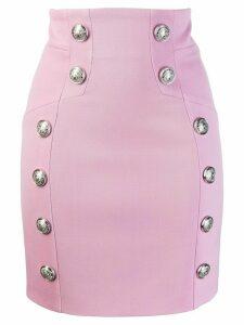 Balmain mini pencil skirt - Pink